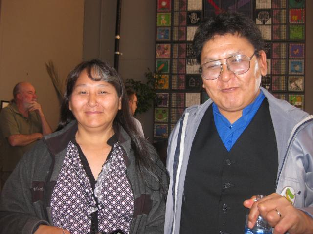 Enoch Adams(right) from Kivalina, Alaska spoke at the memorial service. © 2009 Christine Joy Ferrer